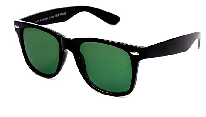 ebc055d09 Image Unavailable. Image not available for. Colour: TheWhoop UV Protected  Green Black Wayfarer Goggles ...