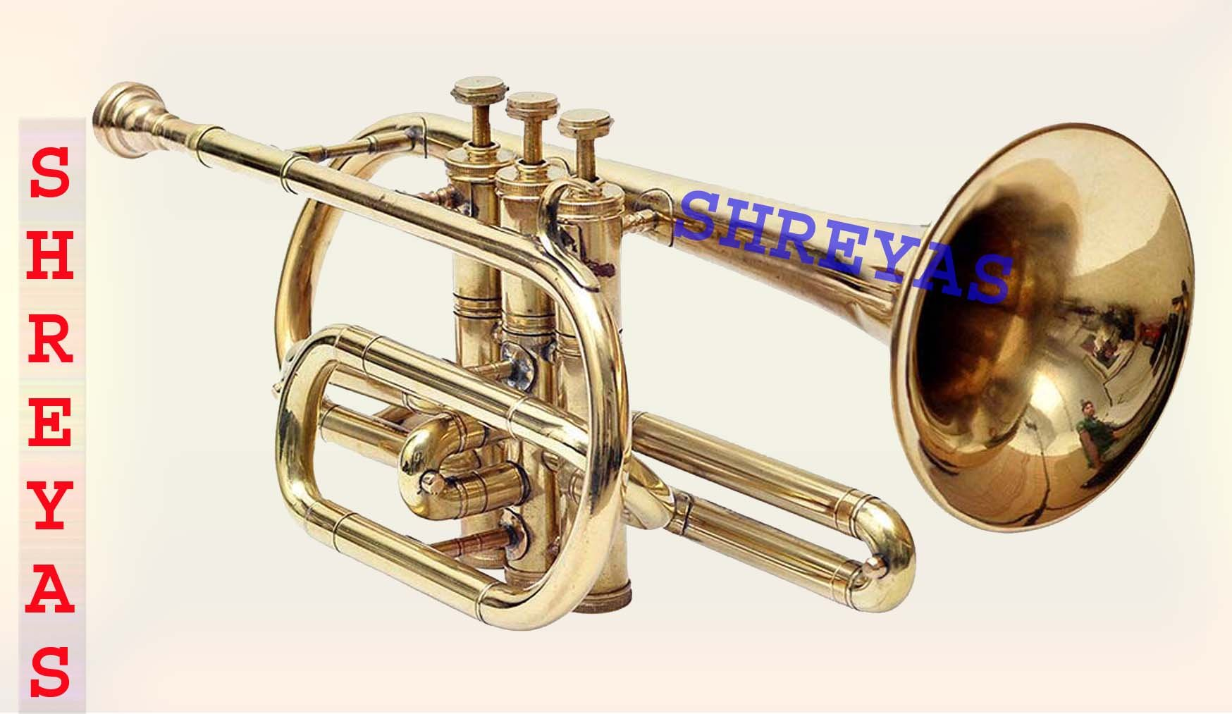 CORNET Bb PITCH BRASS WITH HARD CASE AND MOUTHPIECE