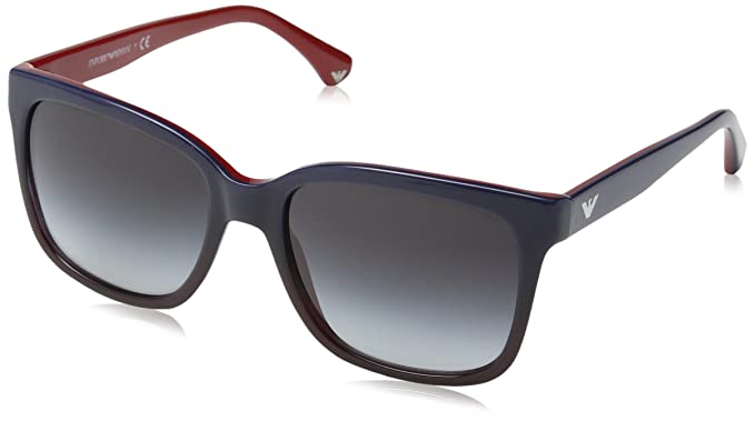 Emporio Armani 4042, Gafas de Sol para Mujer, Blue Gradient On Red, 55