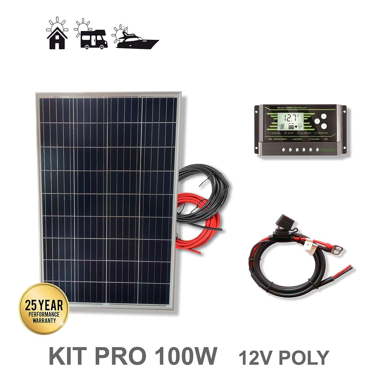 VIASOLAR Kit 100W Pro 12V Panel Solar