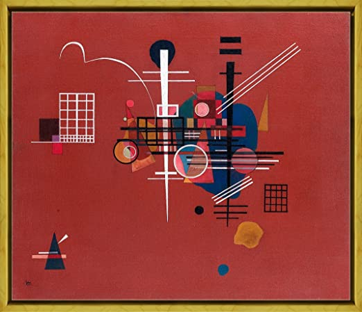 Framed Wassily Kandinsky Barbican Giclee Canvas Print Paintings Poster