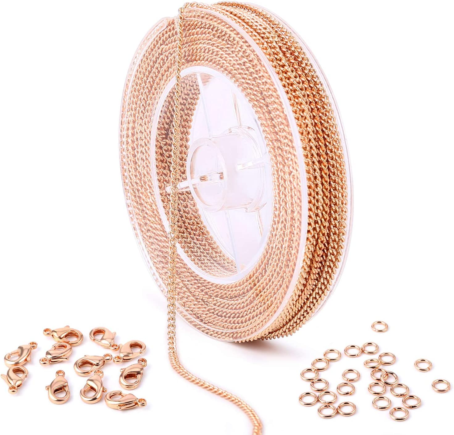 6 Meter Unfinished Bulk Chain Roll Chain Craft Necklace Jewelry Findings DIY