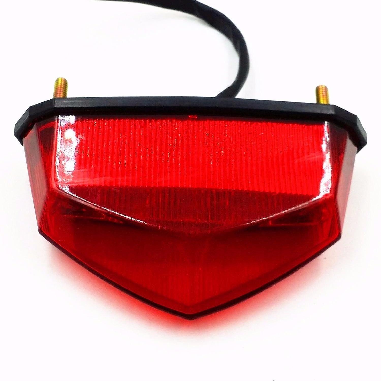 LED Tail Brake Stop Running Light For Honda Kawasaki Yamaha KTM Motorcycle Atv Dual Sport Dirt Bike Quad Red