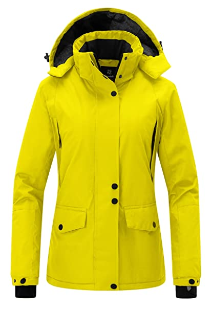 91ff04fc8 Wantdo Women's Mountain Rain Jacket Windproof Ski Coat Waterproof Warm  Outwear