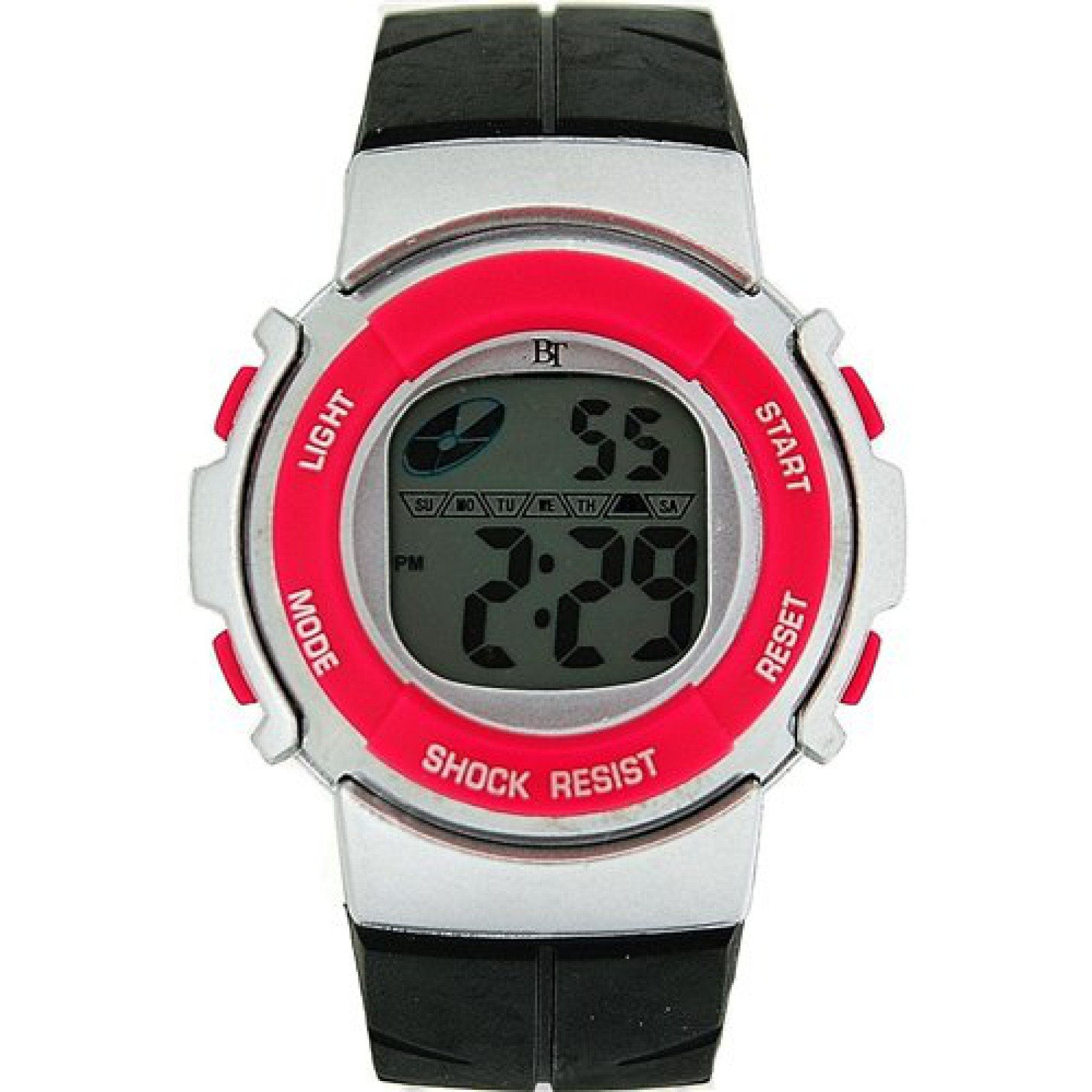 The Olivia Collection Childrens Digital Chronograph Black & Pink Sports Watch