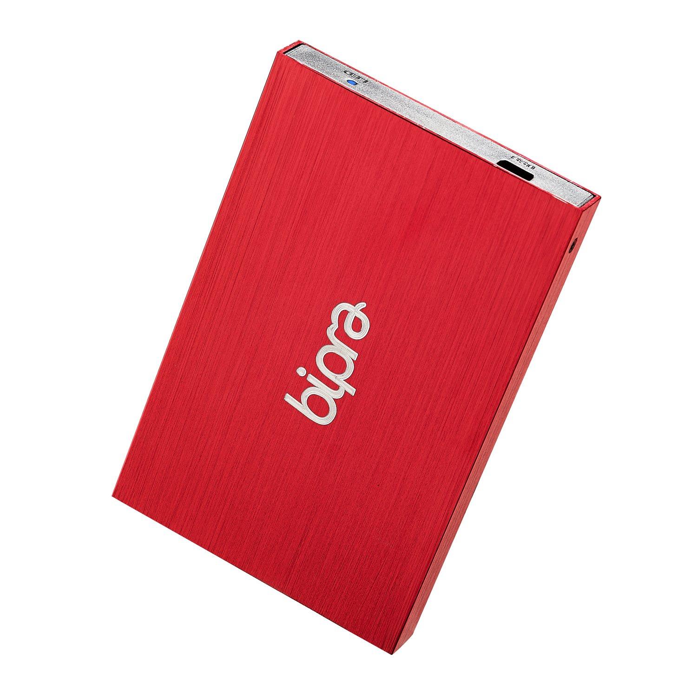 Bipra 250Gb 250 Gb 2.5 Usb 2.0 External Pocket Slim Hard Drive - Red - Fat32 (250Gb) by BIPRA