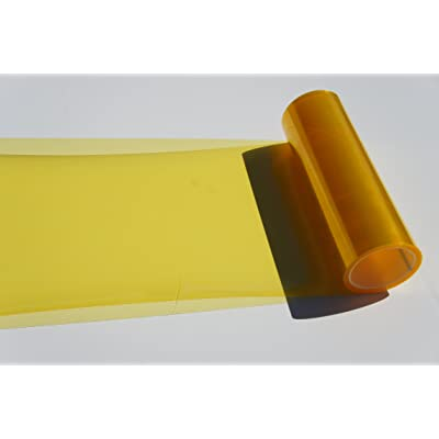 Headlights, Tail Lights, Fog Lights Tint Vinyl Film, Self Adhesive (Small 12''X48'', JDM Golden Yellow): Automotive
