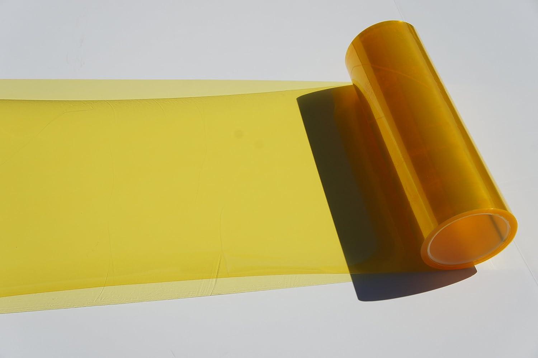 Self Adhesive Medium 12X72, JDM Golden Yellow Tail Lights Fog Lights Tint Vinyl Film Headlights