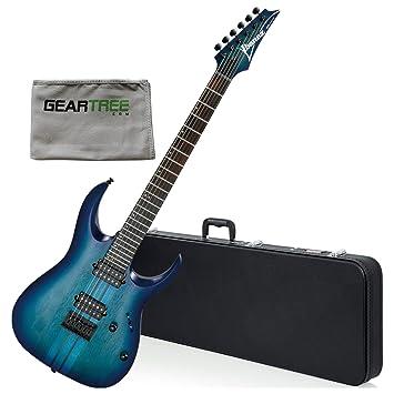 Ibanez rgat62sbf RGA estándar guitarra eléctrica - color azul soporte de W/gamuza de geartree y duro caso: Amazon.es: Instrumentos musicales