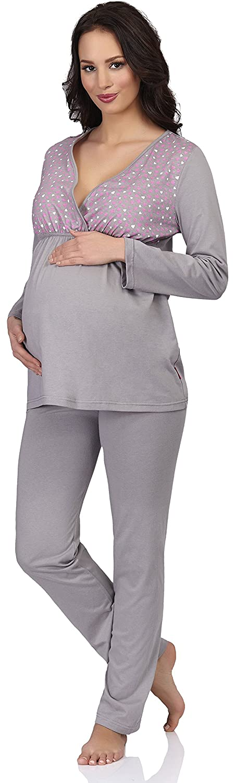 Be Mammy Para Mujer para Lactante Pijama S5S1N