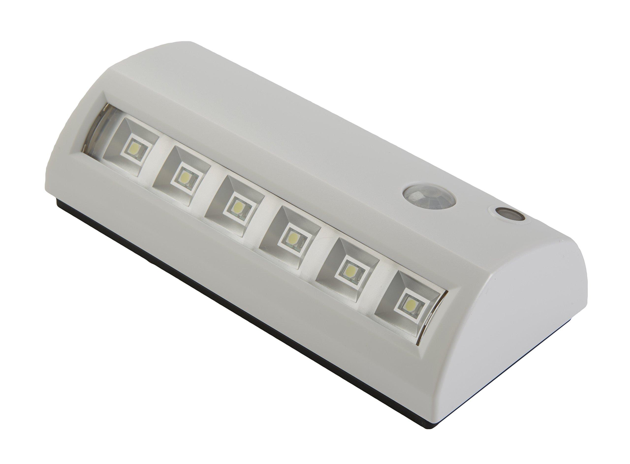 Light It! By Fulcrum 20032-308, LED Wireless Motion Sensor  Weatherproof Light, White
