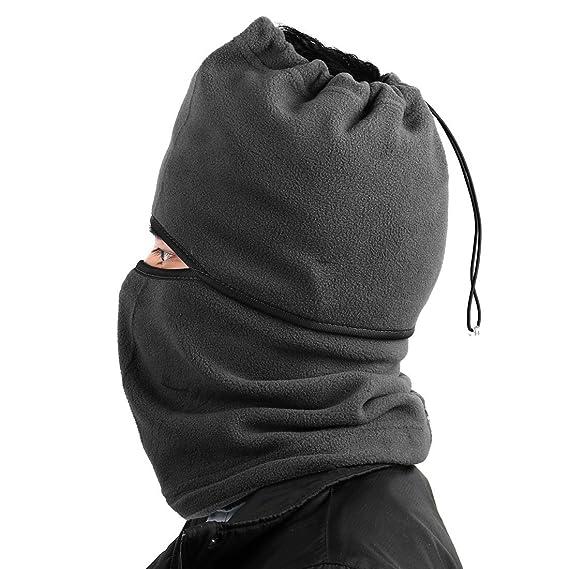 Amazon.com : eDealMax motocicleta de ciclo del Deporte a prueba de Viento de la mascarilla del Cuello del casquillo Protector de la cubierta gris : Sports & ...