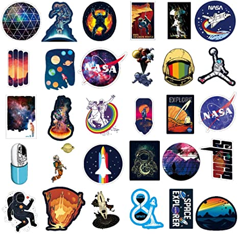 NASA Stickers for Laptop [100PCS], Pegatina Explorador de Espacio ...
