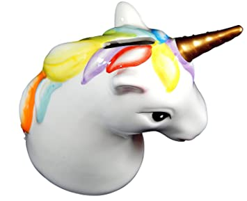 Kopf Spardose Einhorn Unicorn