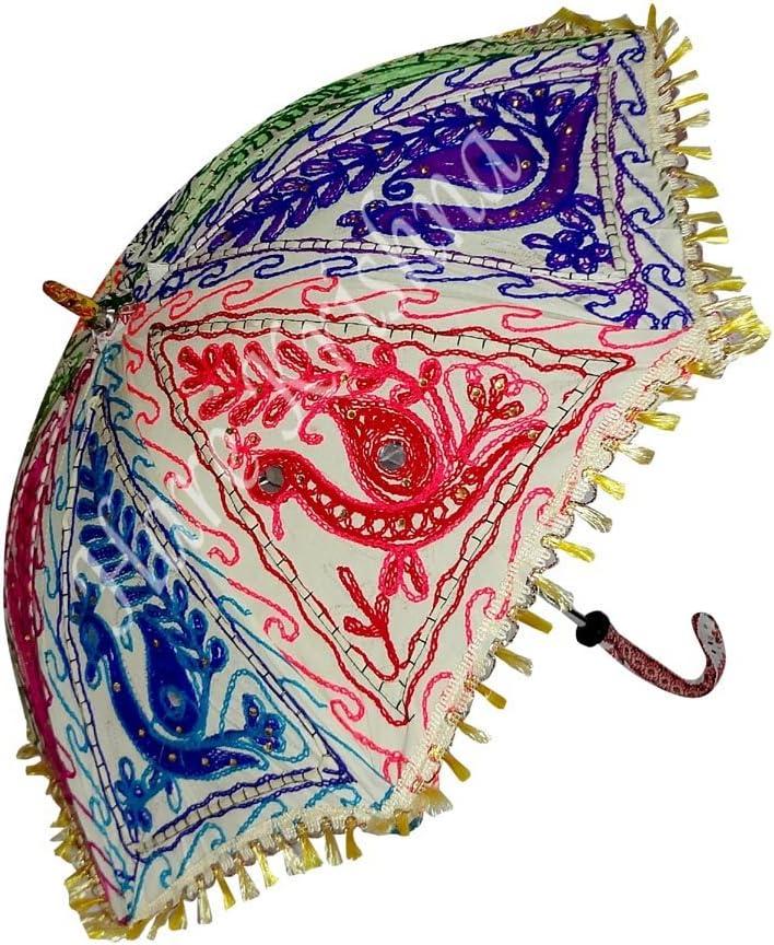 Hare Krishna Sombrilla de algodón de Colores Vintage Sombrilla de Verano de protección 61 x 71 cm: Amazon.es: Hogar