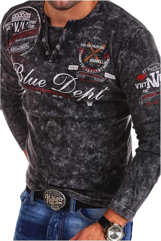 MT Styles Vintage Longsleeve VT-Blue T-Shirt R-0763