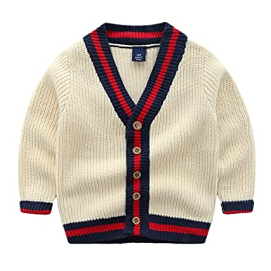 d6d4d693d Amazon.com  Beide Baby Boy Cardigan Classic Knitted Sweater Coat ...