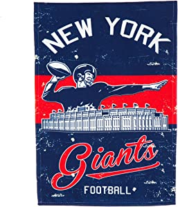 "Team Sports America New York Giants NFL Vintage Linen Garden Flag - 12.5"" W x 18"" H Outdoor Double Sided Décor Sign for Football Fans"