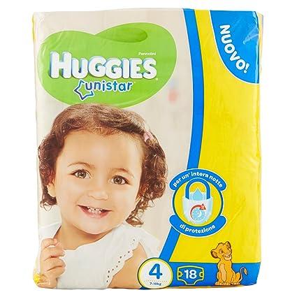 Huggies - Unistar - Pañales - Talla 4 (7-14 kg) - 18