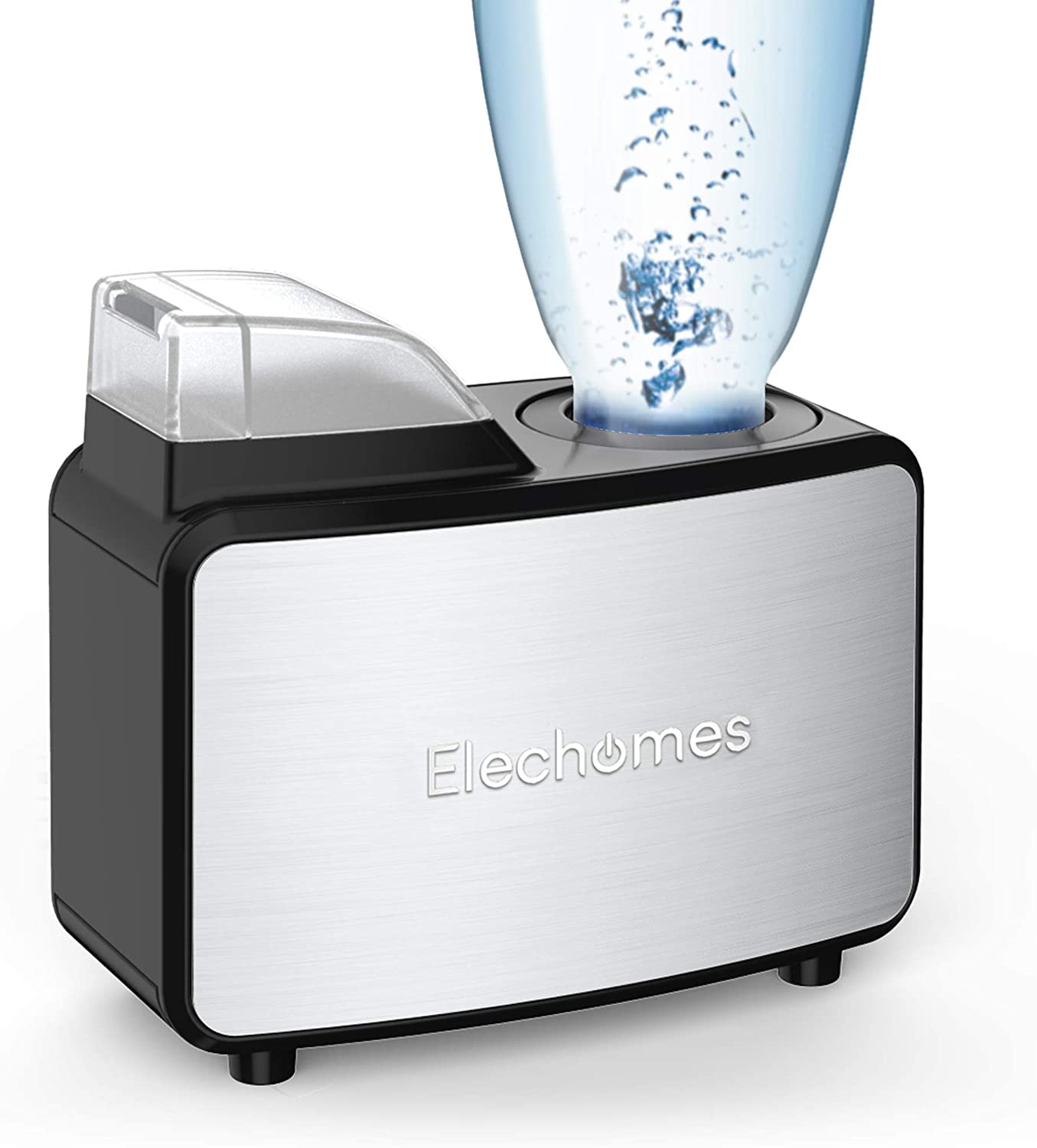 Elechomes Ultrasonic Mini Cool Mist Humidifier Personal Portable Diffuser Water Bottle Humidifiers for Travel Home Office Hotel, with Storage Bag, Auto Shut-Off