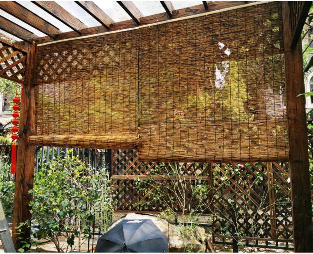 Filit Persianas de bambú, Cortina de láminas para Exteriores, Pantalla Enrollable con Protector Solar,para decoración/partición, Impermeable,Ancho de 50-150 cm,Personalizable,W90xH180cm/35.5x71in: Amazon.es: Hogar
