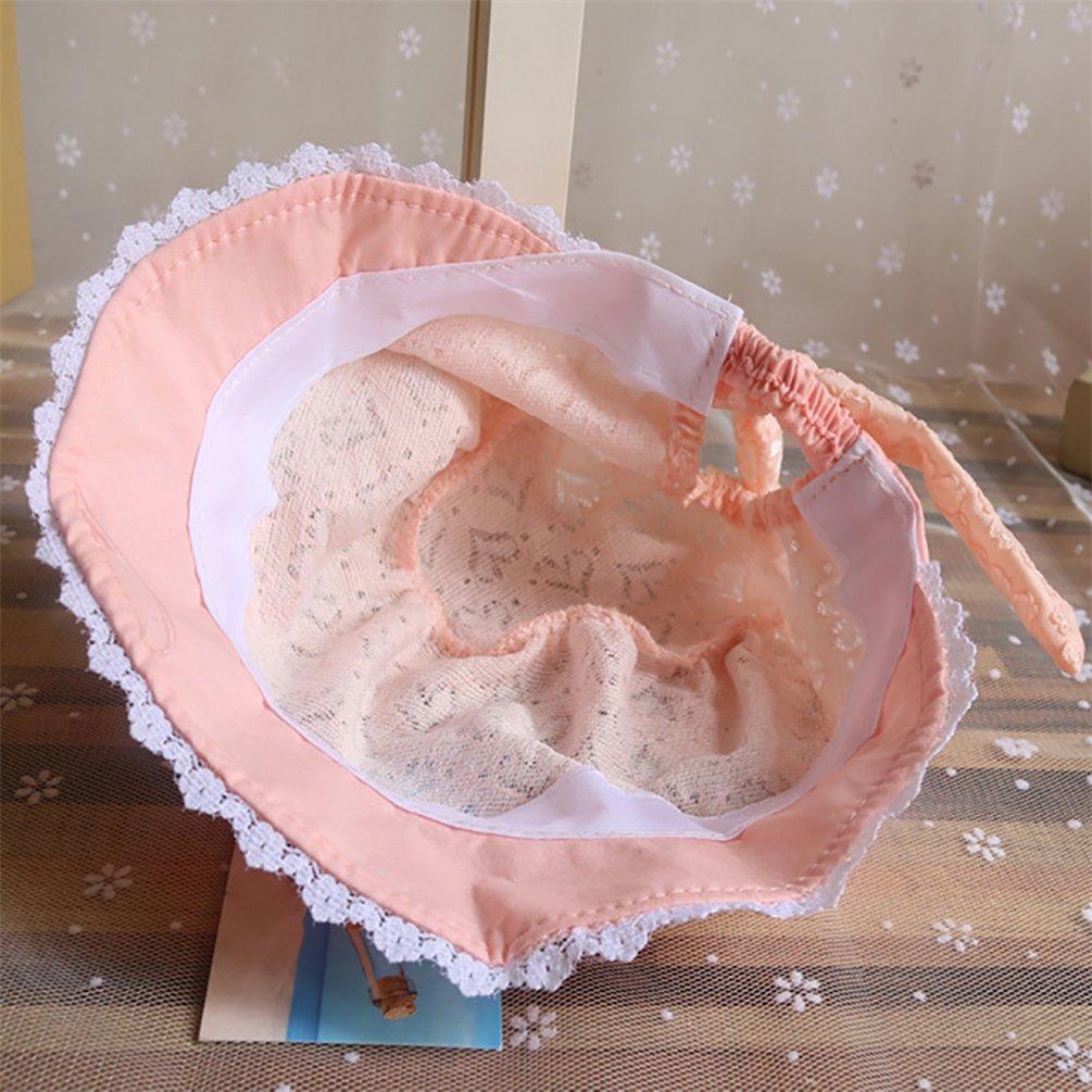 nouveau-n/é Filles Seau Style de plage d/ét/é Chapeau protection solaire Apricot Pink taille unique Bismarckbeer Soleil Chapeaux