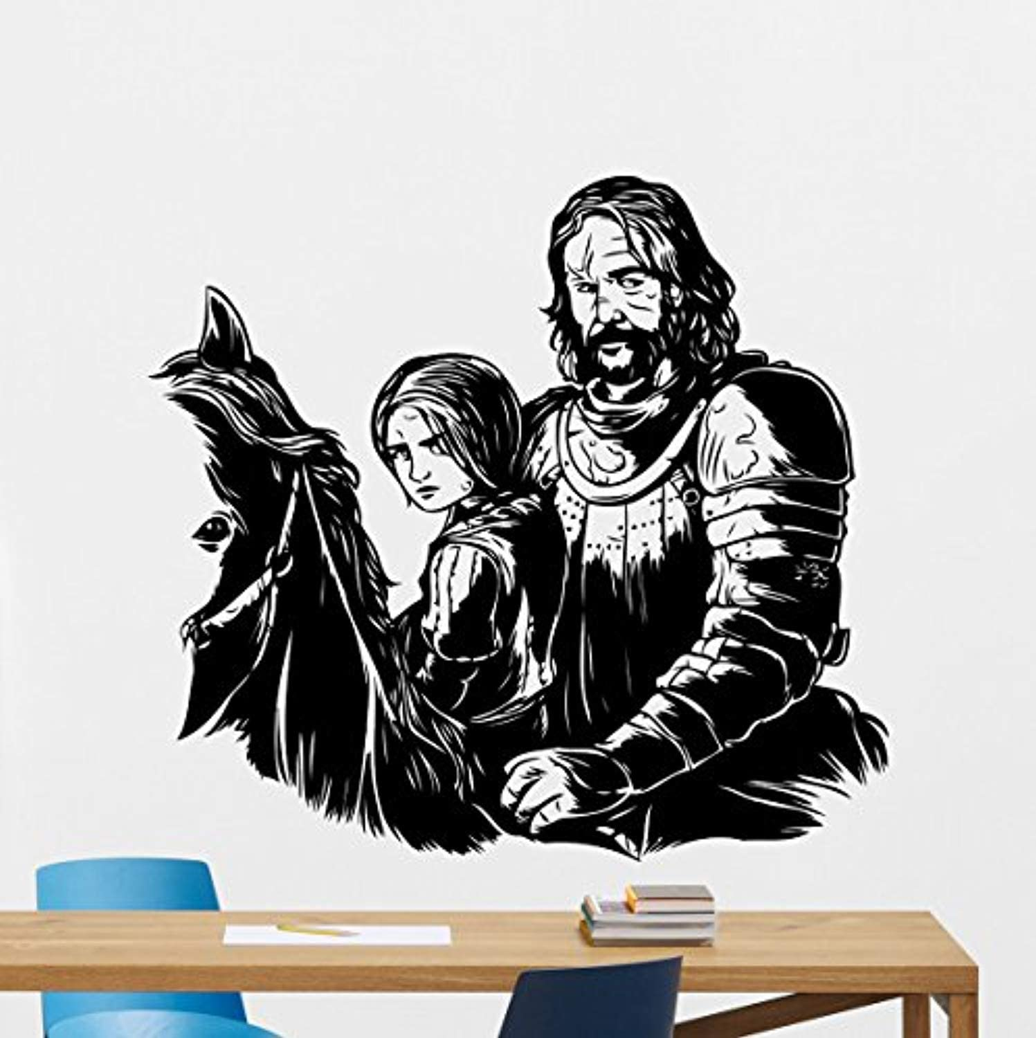 Amazon Com The Hound Arya Stark Wall Decal Sandor Clegane Game Of