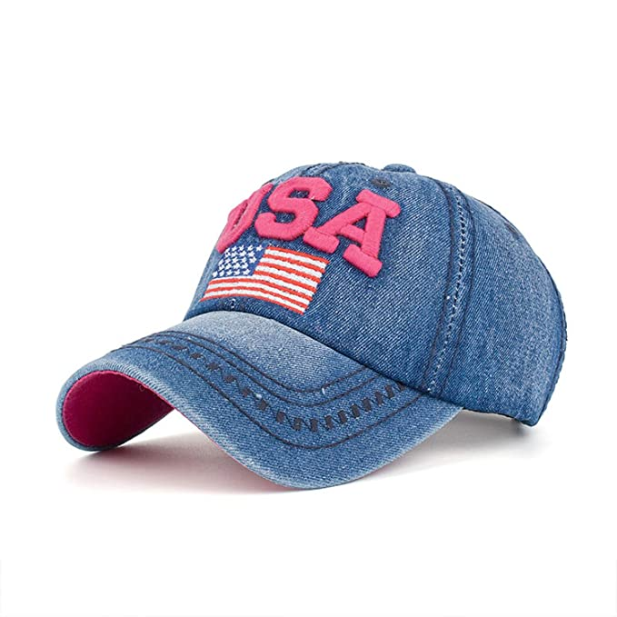 693cd2f42c6 Amazon.com  Snapback Cap Cotton Baseball Cap USA Flag Embroidery Hat ...