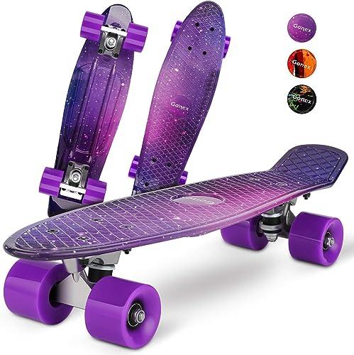 Gonex Mini Cruiser Skateboard for Boy Girl Beginner Kids, Complete 22 Inches Plastic Skate Board for Teens Youth Adults