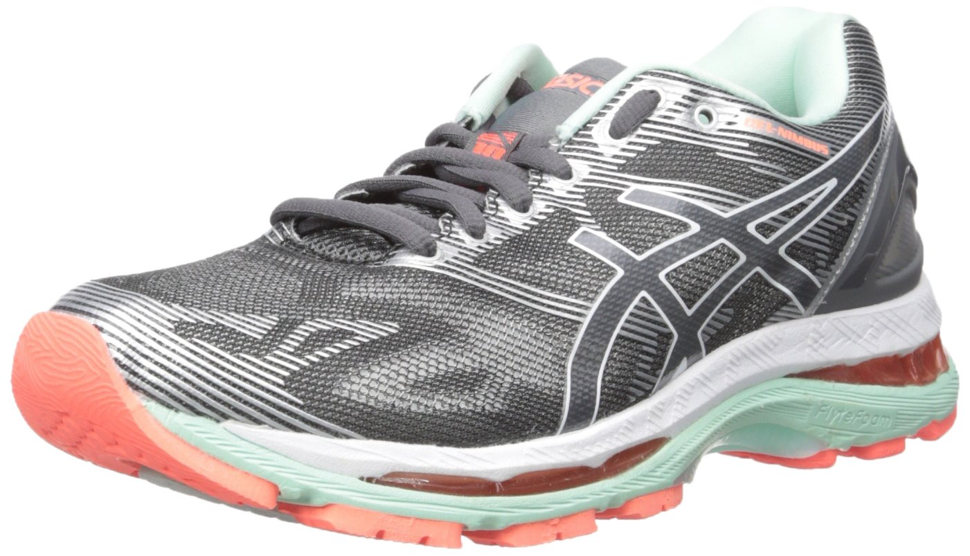 ASICS Women's Gel-Nimbus 19 Running Shoe B01GSXIZN6 5 D US|Carbon/White/Flash Coral
