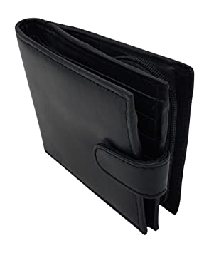 c8c555a8e374 Contactless Safe RFID WALLET FOR MEN - RFID BLOCKING SCAN PROOF WALLET -  Genuine Leather Wallet And Box - KEEP YOUR MONEY SAFE (Black)