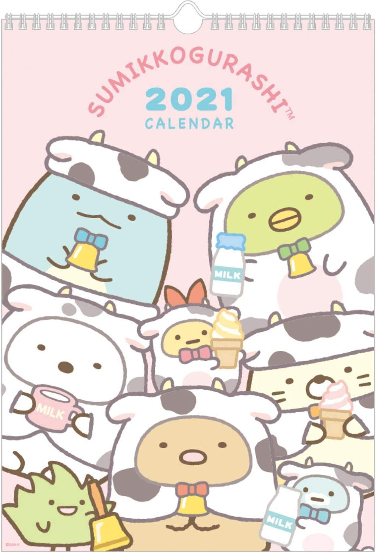 San-X SC G 2021 Calendar (Japan) Wall-Hanging B4 CD34801 [Size] 365x256mm