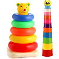 SARTHAM, Stacking Toys for Kids (Combo of 2 Toys)