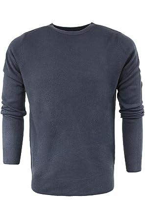 67946b72976671 Kensington Eastside Mens Jumper Ralph' Knitted Sweater Crew Neck Pullover  Charcoal