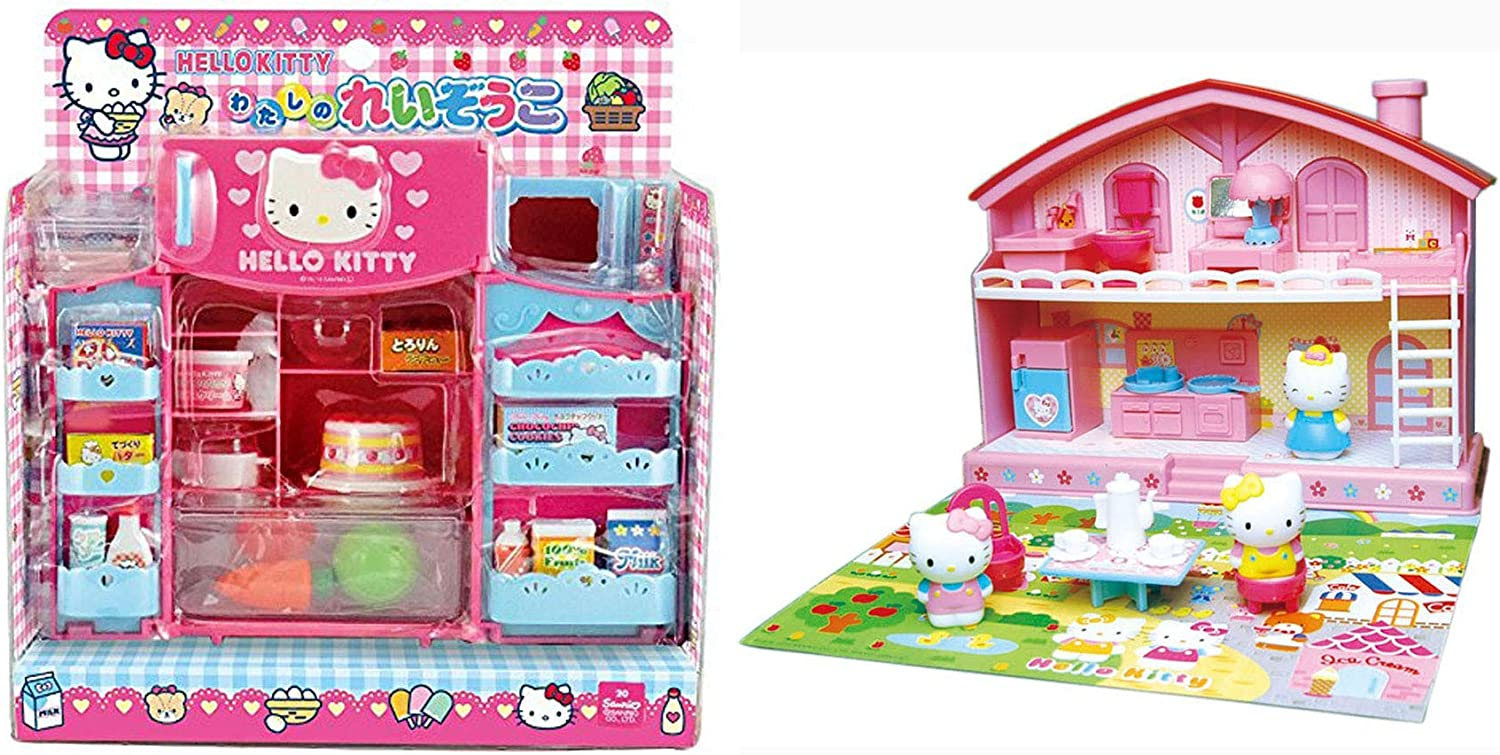 Hello Kitty Refrigerator and House Sets Sold Together - Cooking and House Play (Japan Import)