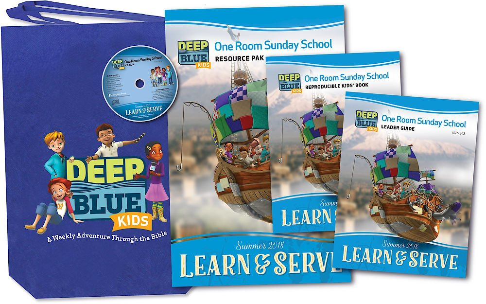 Download Deep Blue Kids Learn & Serve One Room Sunday School Kit Summer 2018: Ages 3-12 ebook