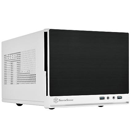SilverStone SST-SG13WB-Q - Carcasa de ordenador compacta cubo Sugo Mini-ITX, Panel frontal de plástico con acabado en imitación de aluminio, negro ...