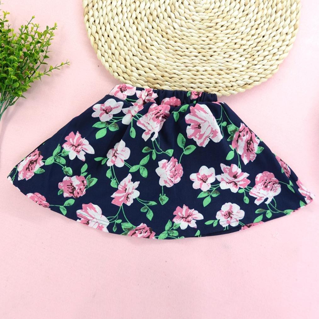 ❥Elecenty Prinzessin Baby Kleid Mädchen Kleinkind Brief Drucken Shirts Hemd  Tops+Tutu Blumenmuster Rock d5b3a2fd83