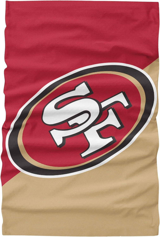FOCO NFL Team Logo Multiuse Neck Gaiter Face Cover