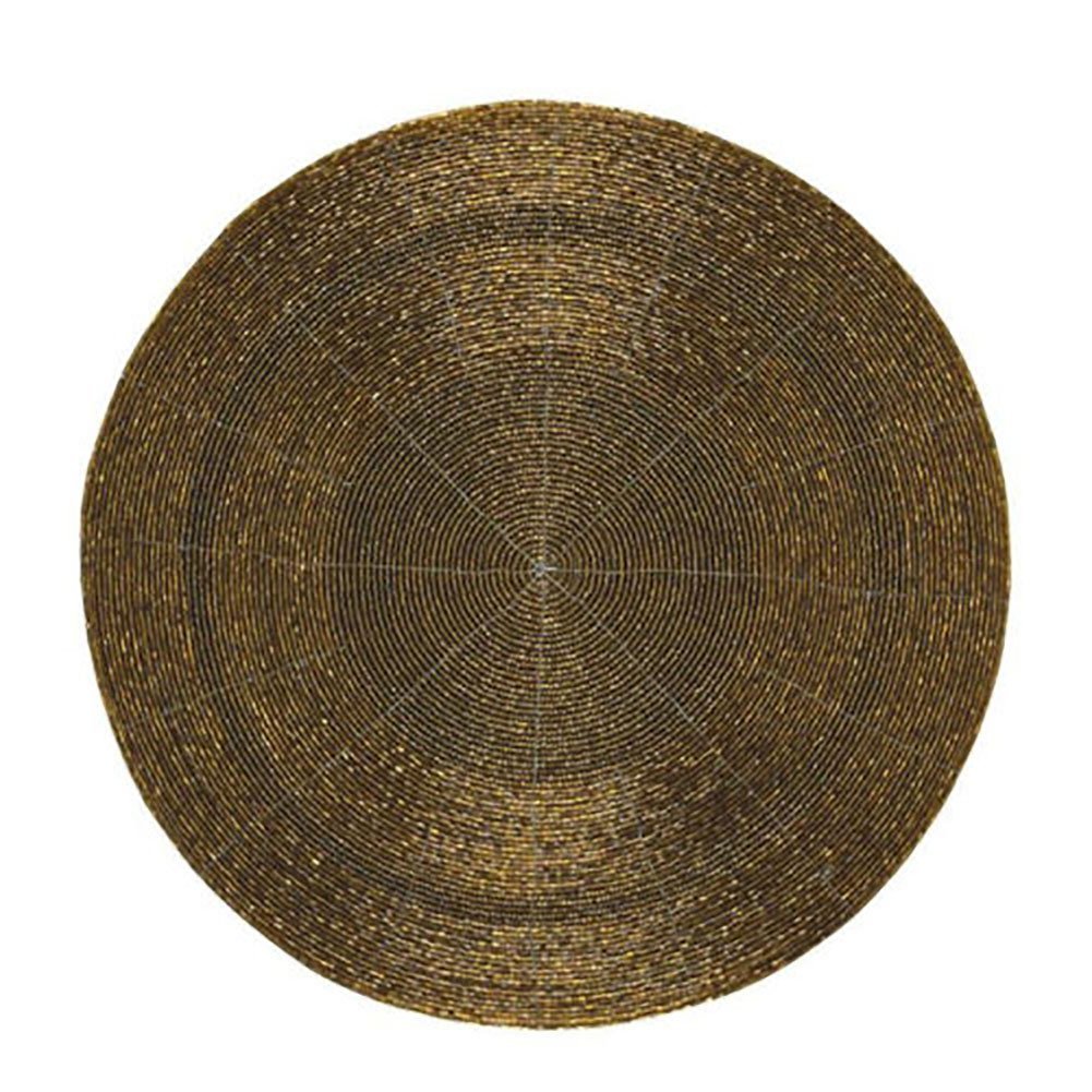 Christmas Tablescape Décor - Elegant Shiny Metallic Brown Bronze Placemat