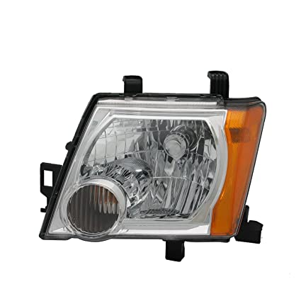 Driver side WITH install kit -Chrome 6 inch LED 2008 Nissan VERSA Post mount spotlight