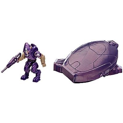 Mega Bloks Halo Drop Pod Metallic Purple Elite Toy Figure: Toys & Games