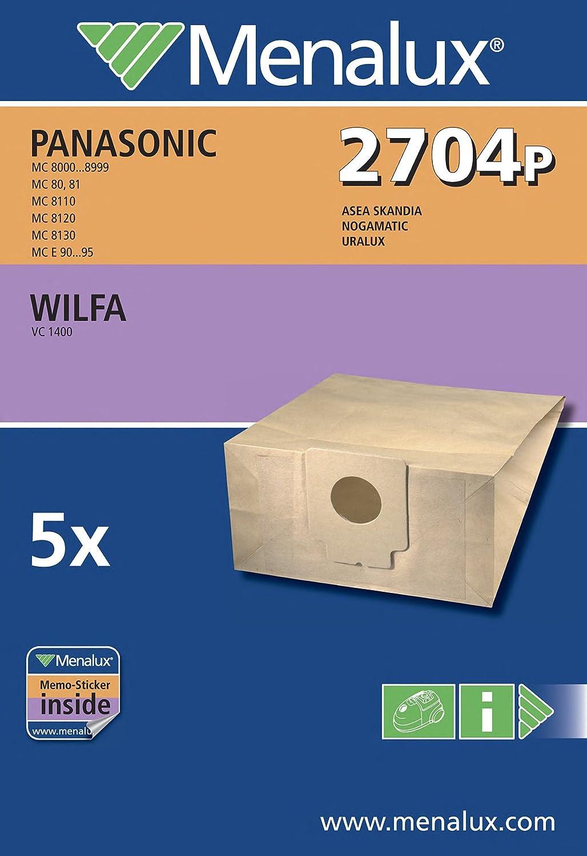 Menalux 2704 P - Bolsas para aspiradoras Panasonic (5 unidades ...