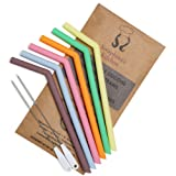 Reusable Silicone Smoothie Straws BPA Free – (x6) EXTRA WIDE 20oz, 30oz, Eco Friendly for Safely Drinking Hot & Cold Drinks   Premium Quality, Seraphina's Kitchen   Protect Your Teeth Now!