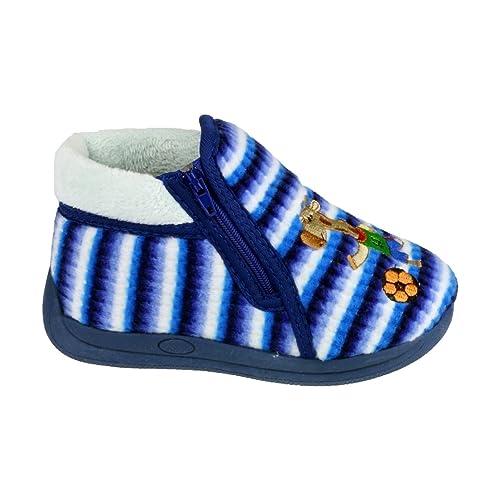 Mirak - Zapatillas de andar por casa Modelo Safari Unisex para niños niñas: Amazon.es: Zapatos y complementos