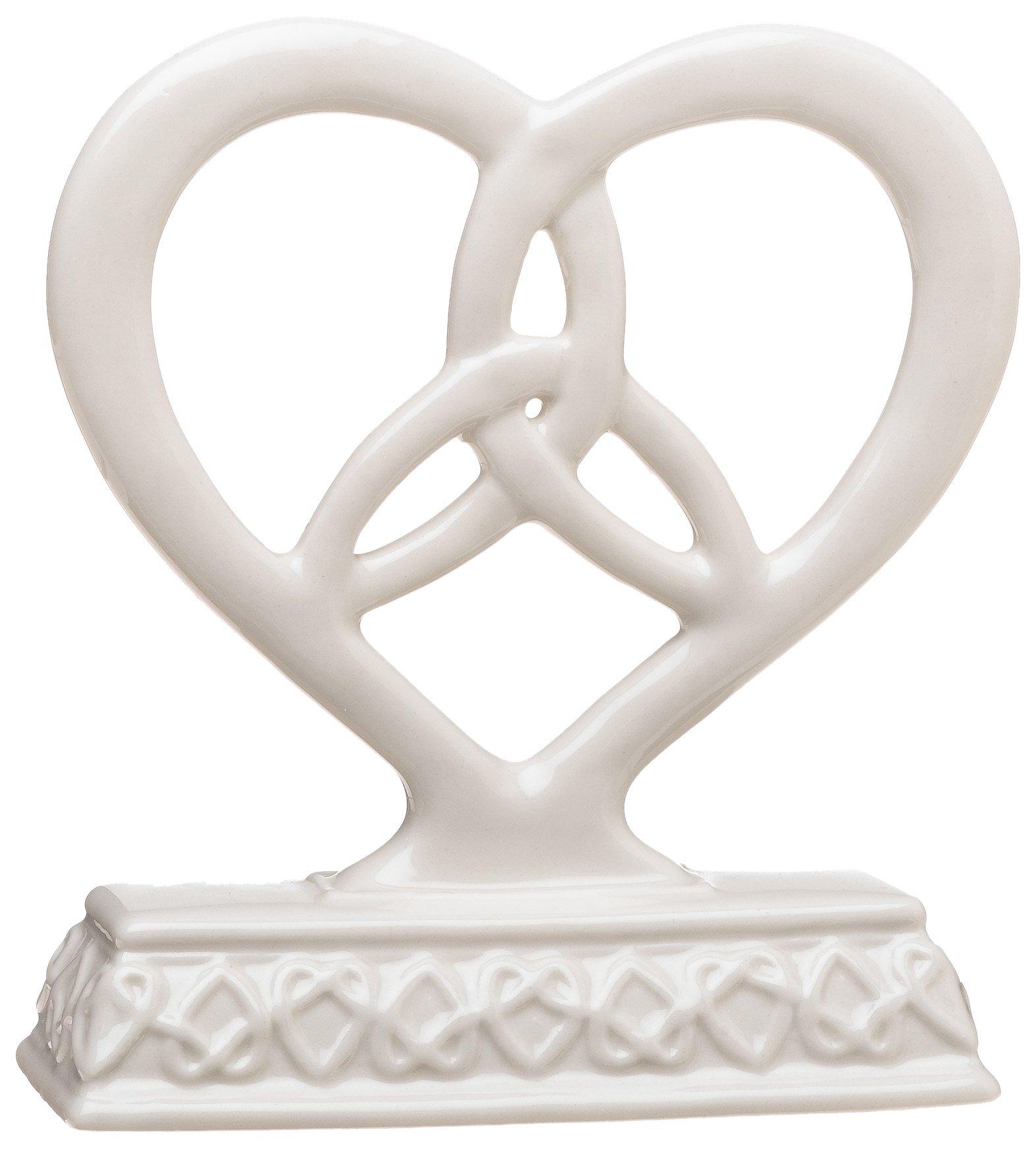 Weddingstar Heart Framed Trinity Knot Cake Top