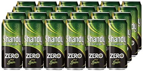 Shandy Cruzcampo Zero Limon Cerveza - Caja de 24 Latas x 330 ml ...
