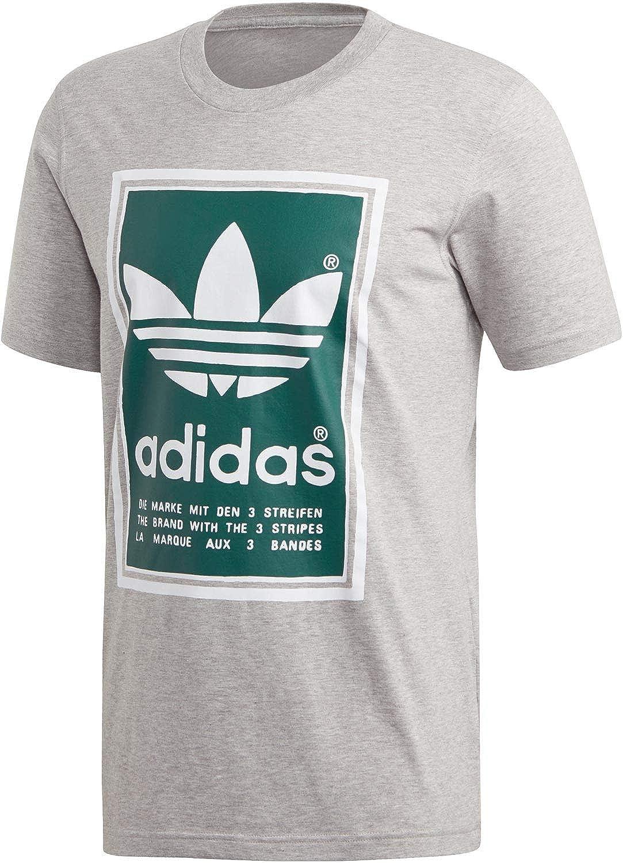 adidas Originals T Shirt Herren Filled Label ED6939 Grau, Größe:M