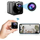 Mini Spy Camera Wireless Hidden Cameras WiFi - Real 1080P HD Hidden Nanny Cam with Cell Phone App, Small Covert Security Came