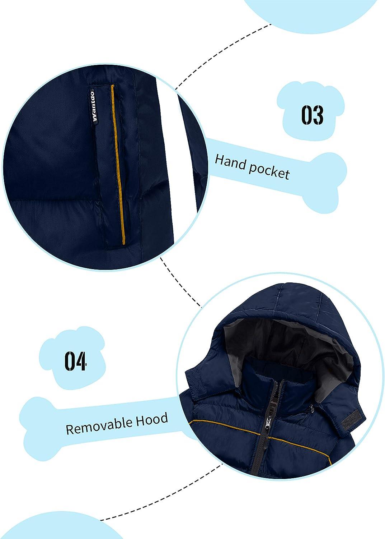 Wantdo Boys Padded Winter Coat Waterproof Thicken Warm Puffer Jacket with Hood